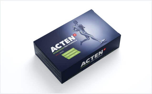 Acten Product Packaging Collagen Supplement for healthy joint