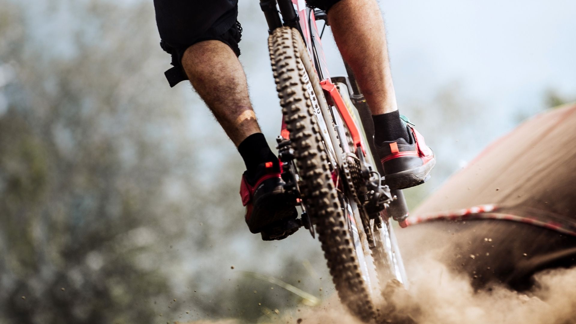Downhill mountain bike focus on joint stress