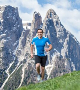 Peter Fill running in Alpe di Siusi