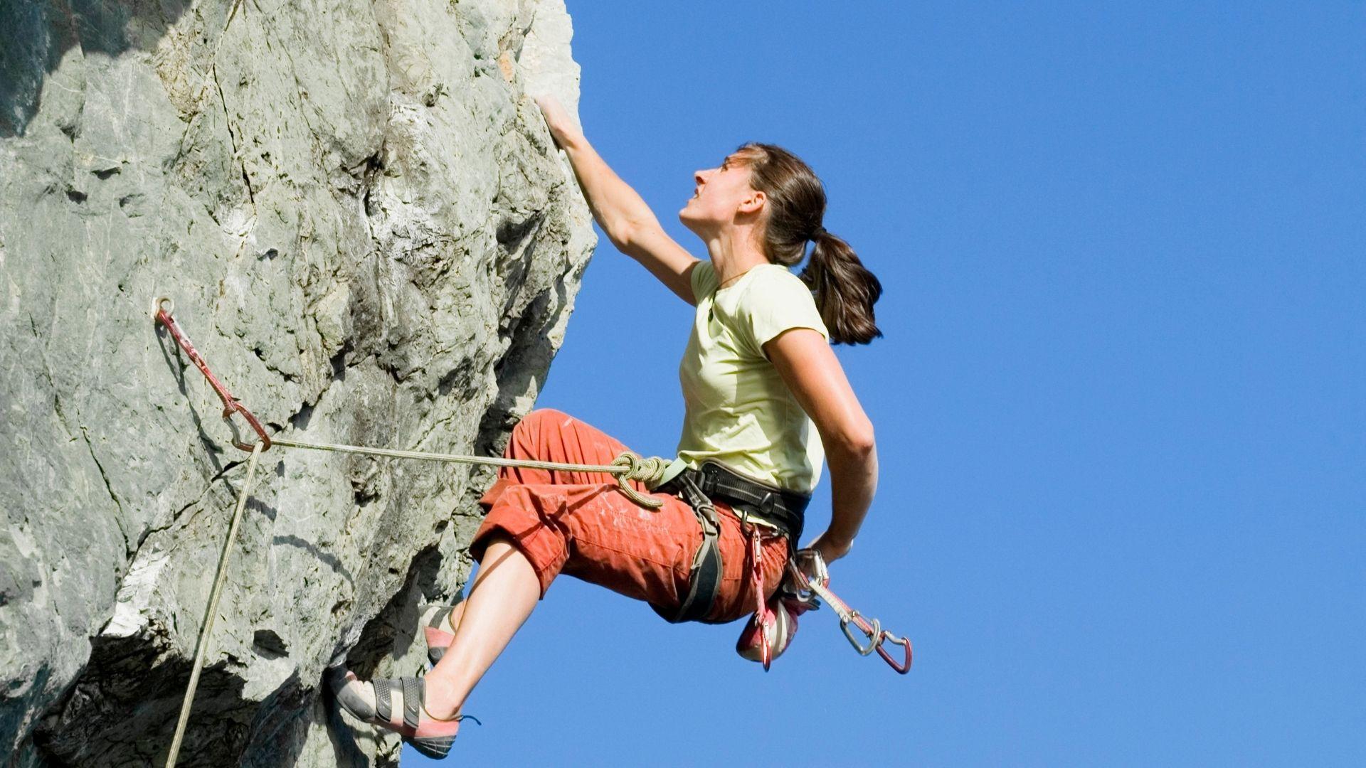 Rock climbing girls
