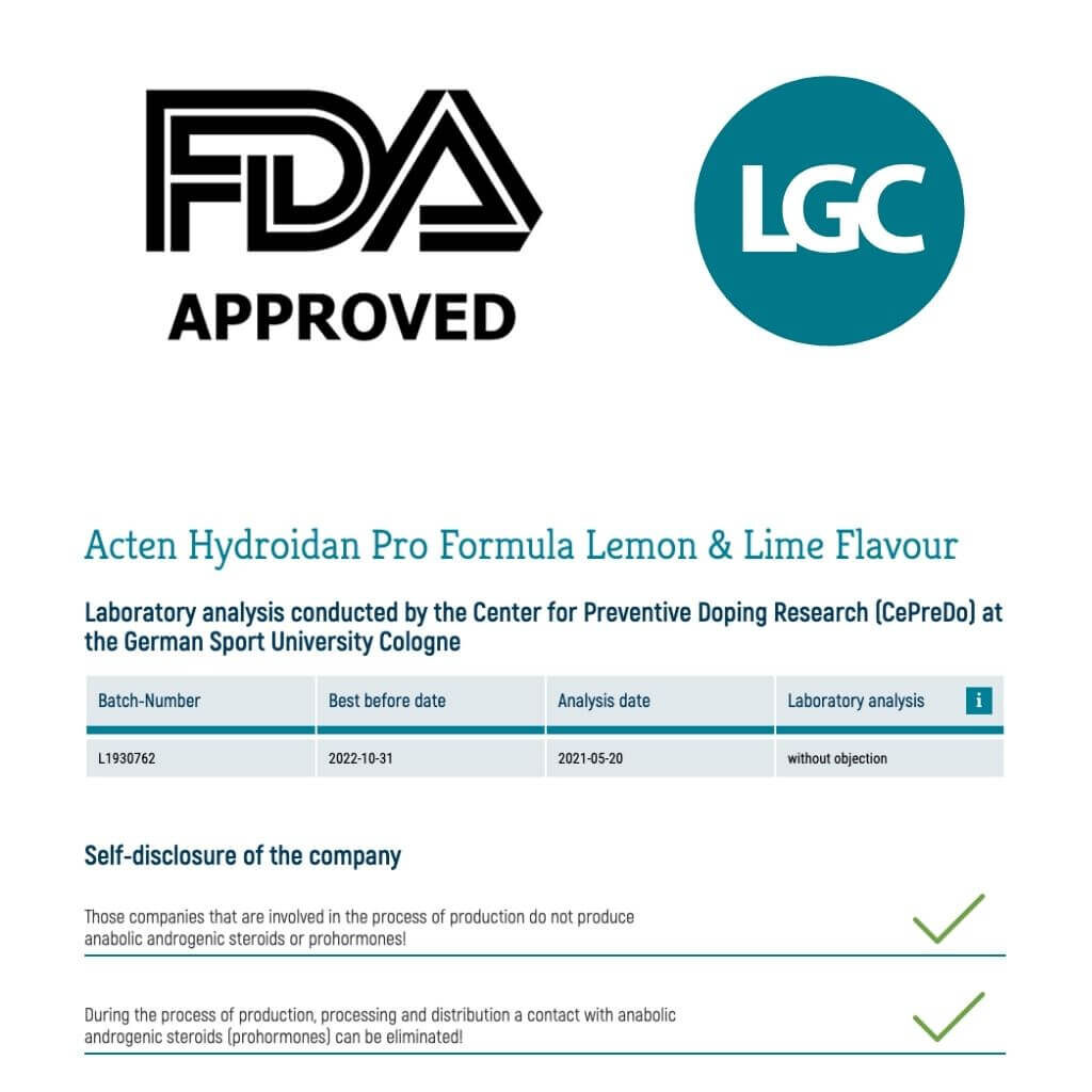 Koelner Liste antidoping certification the pro's choice